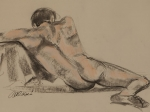 Male Nude Lounging