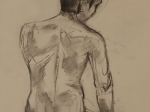 Male Nude Standing Back